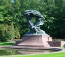 Паметникът на Шопен-близък план